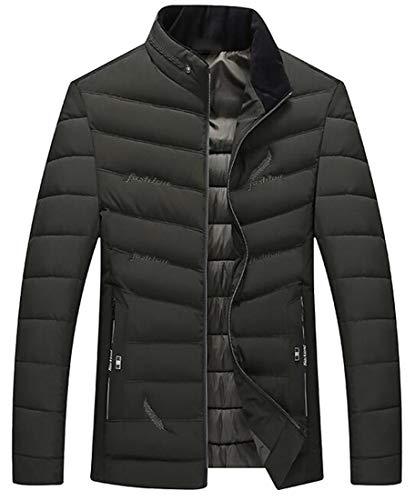 [해외]pipigo 남자의 겨울 따뜻한 자 수 스탠드 칼라 다운 퀼트 코트 재킷 아웃 웨어 / pipigo Men`s Winter Warm Embroidery Stand Collar Down Quilted Coat Jacket Outwear