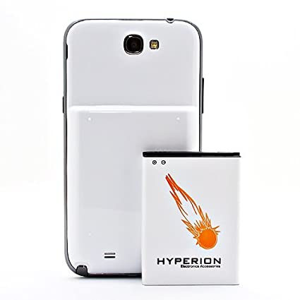 hot sales 6c3bc cd5be Hyperion Samsung Galaxy Note II 6200mAh Extended Battery + White ...