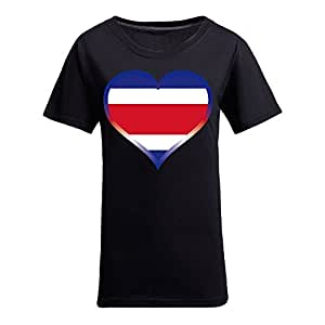 Brasil 2014 FIFA World Cup Theme Short Sleeve T-shirt,Football Background Womens Cotton shirts for Fans Black by runtopwell