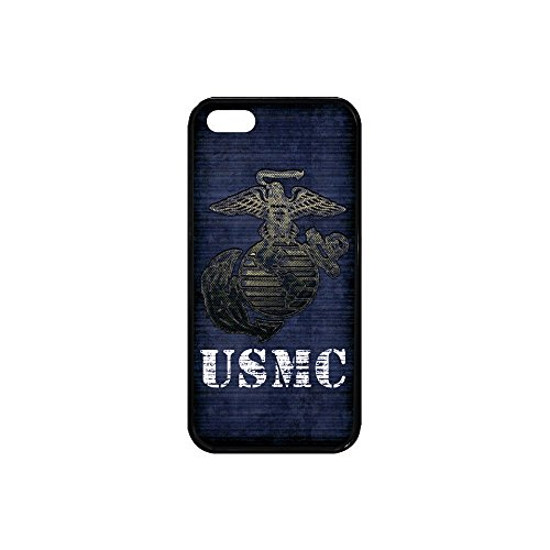 HomeWishes United States Marine Corps-USMC Custom Rubber Case For Iphone SE - Shipping Wish Faster On