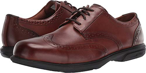 Florsheim Men's Loedin Dress Wing Tip Steel Toe Work Shoe (8 D US, Brown) -