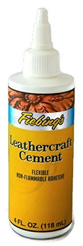 Fiebing's Leathercraft Cement, 4 oz - High Strength Bond for Leather Projects and More - Non-toxic (Leather Sofa Glue)