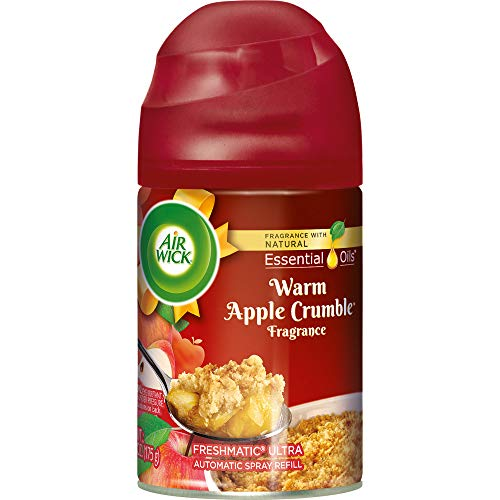 Air Wick Holiday Freshmatic Automatic Spray, Warm Apple Crumble, 6.17oz, Air Freshener
