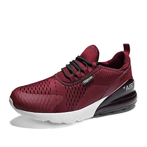 (Men's Athletic & Sneakers,YuhooSun Ultra Lightweight Breathable Running Shoes Air Cushion Trail Fashion Walking Wine )