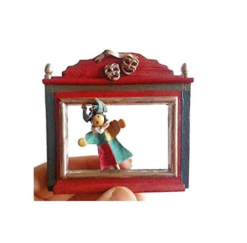 Amazon.com: Miniature Dollhouse Theater And Puppets 1:12