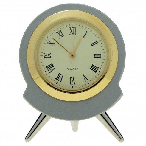 11040 | Reloj Sobremesa Decoracion Miniatura Mod.5455 Cromado Bisel Chap: Amazon.es: Relojes