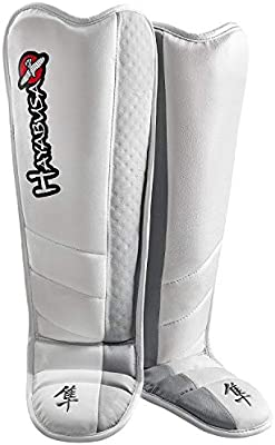 Fighters Only Mens MMA Shin Guard White S//M