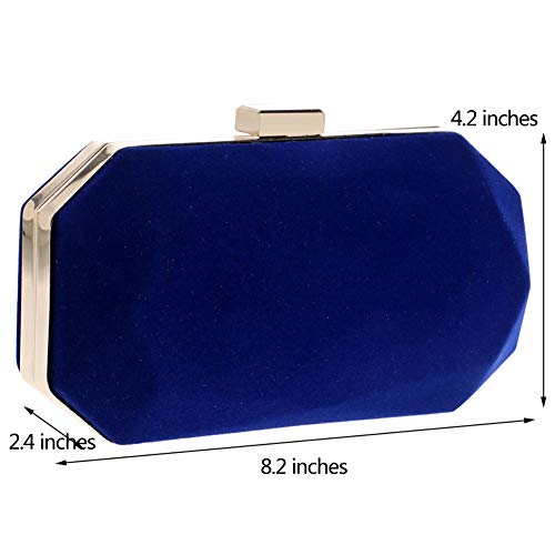 Clutch Blue Womens Evening Ladies Chain Purse PU Bags Dress Wedding Bags Wallet r7PpEwqrB