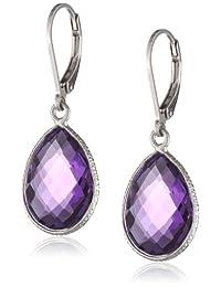 Sterling Silver Teardrop Gemstone Dangle Earrings