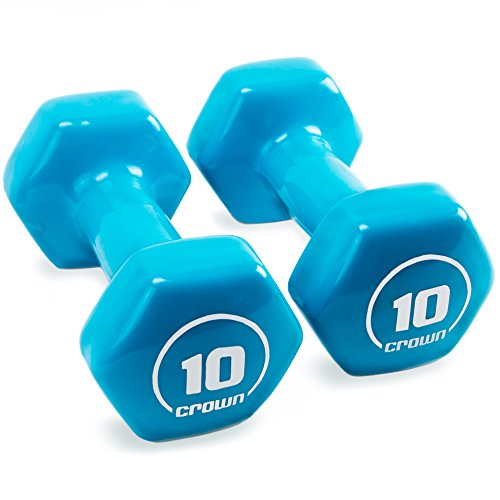 Brightbells Vinyl Hex Hand Weights, Spectrum Series I: Tropical - Colorful Coated Set of Non-slip Dumbbell Free Weight Pairs - Home & Gym Equipment (10)