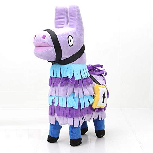 Proficient|Plush Figure Fortnight Troll Stash Llama Alpaca Rainbow Horse Stuffed Toy for Gift (25cm)