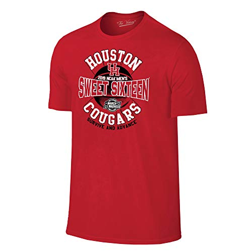 Houston Cougars 2019 Sweet 16 Basketball March Madness T-Shirt - X-Large - Red