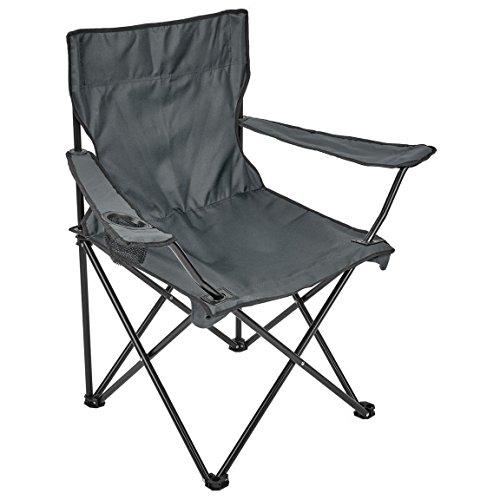 Black Snake Campingstuhl faltbar mit Getränkehalter kleines Packmaß praktischer Faltstuhl Angelstuhl grau