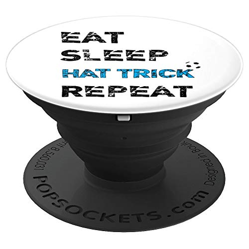 Hat Soccer Trick - Eat Sleep Hat Trick Repeat Soccer Fan Futbol Goal - PopSockets Grip and Stand for Phones and Tablets