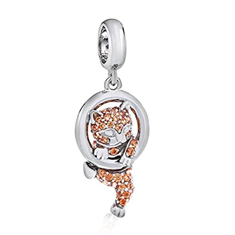 Amazon Com 925 Sterling Silver Cat Charm Pet Charm Animal Charm