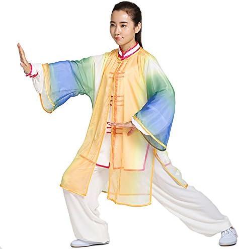 G-likeクラーデション ベール+長袖太極拳服セット(3点) 練習用 演舞服