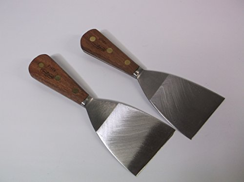 Dexter Russell - Set of (2) - 3in Grill Scraper Forged Angled Blade Bolster #525-3 Wood Handle - Factory Second ()
