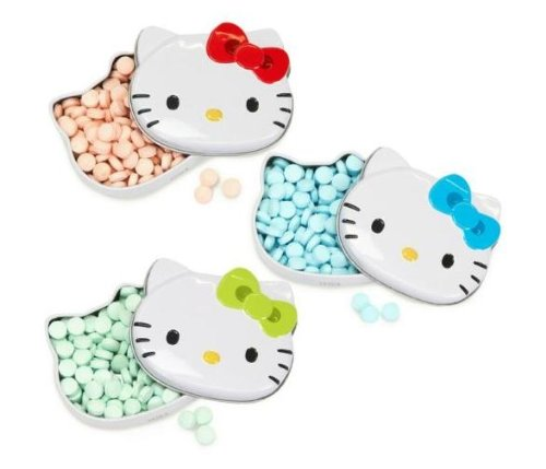 Hello Kitty Sours Candy x 3 - 1 Red, 1 Yellow, 1 - Gum Tin Box