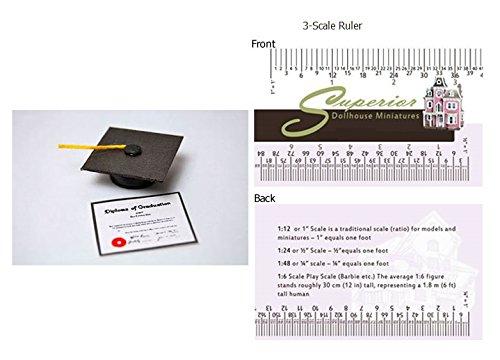 (Dollhouse Miniature Graduation Cap W Tassel)