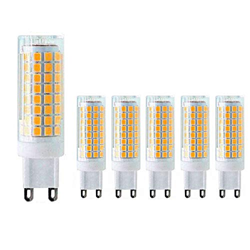 MD Lighting G9 LED Bulb 10W LED Corn Light Bulbs(6 Pack)- G9 Ceramic Bulbs Replacement 80W Equivalent Halogen Bulbs Warm White 3000K G9 LED Bulbs for Home Lighting, Ceiling Fan, Dimmable, AC120V