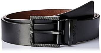 VAN HEUSEN Men's Etched Reversible Belt Etched Reversible Belt, Black (Black/Brown Reversible), 38