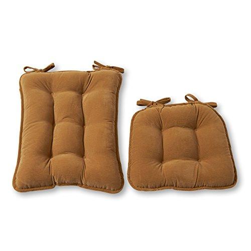 (Greendale Home Fashions Standard Rocking Chair Cushion Set, Cherokee Solid, Khaki)