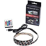3M LED Strip Lights Kit Waterproof with 24 Key Remote Controller Flexible Changing Multi-Color Lighting Strips for TV, Room Home Decor