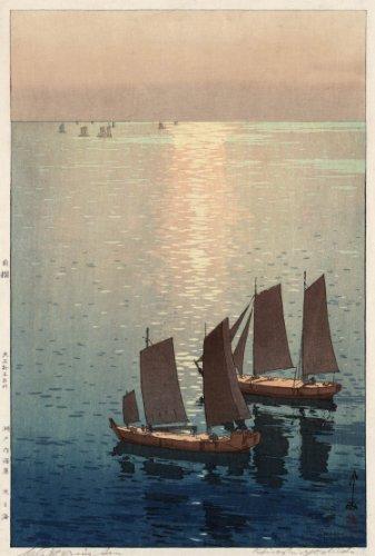 Japanese Art Poster - Hiroshi Yoshida Hikaru umi 1926