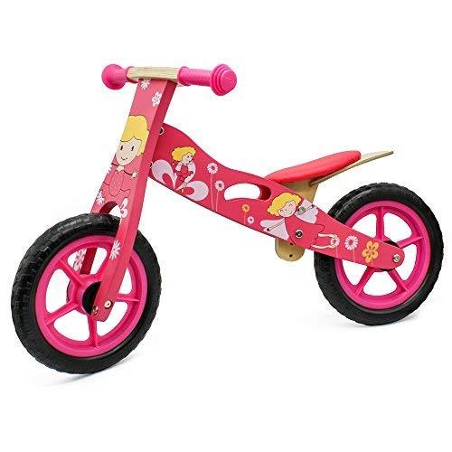 Training Bike Wooden - london-kate Deluxe Wooden BALANCE Running BIKE - No Pedal Push Bike - Girls Training Bike For Toddlers and Kids