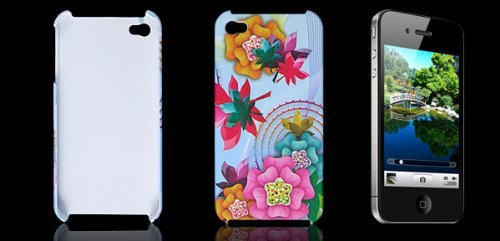 DealMux Colors Flower Plastic Back Case Shell for iPhone 4 4G