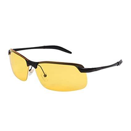 3c70745b7b Image Unavailable. Image not available for. Color  Gemgoo HD Polarized  Driving Glasses Anti-Glare Sunglasses Night ...