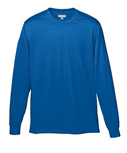 Augusta Sportswear Soccer Shirt - Augusta Sportswear Wicking Long Sleeve T-Shirt, Small, Royal