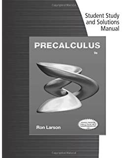 Precalculus 9th edition ron larson 9781133949015 amazon books student solutions manual for larsons precalculus fandeluxe Image collections