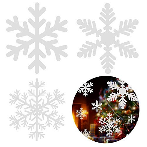 Kecooi Removable Wall Sticker White Snowflake Window Art Decal Christmas Decor Wall Stickers