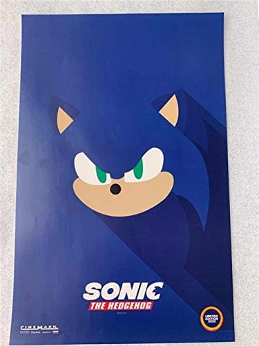 Sonic The Hedgehog 11 X17 Original Promo Movie Poster 2020 Cinemark Le At Amazon S Entertainment Collectibles Store