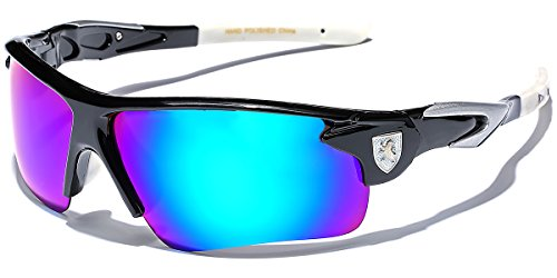 Polarized Men's Sport Cycling Fishing Baseball Water Sports Sunglasses with Color Mirror Lens