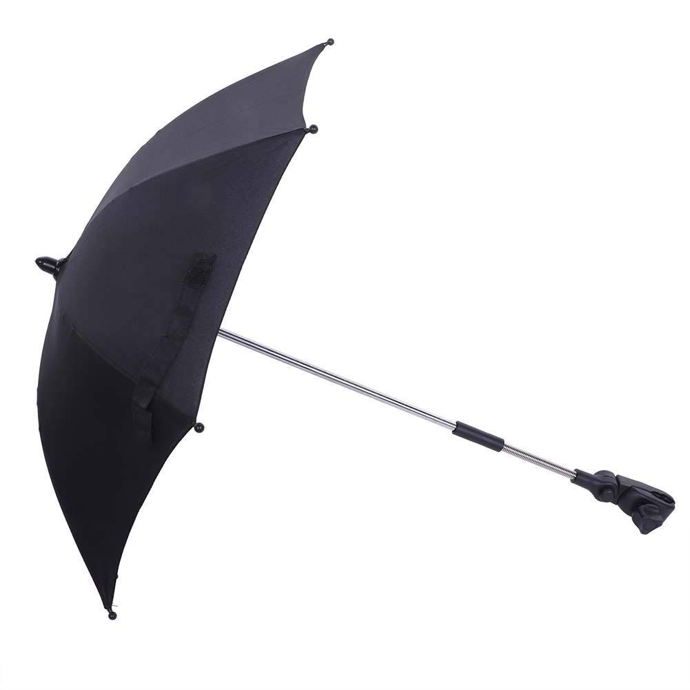 Nitrip /Étanche Acier Noir Tissu Solaire /Écran Solaire Double Fonctionnel Rouge Pourpre Noir Parapluie Parasol B/éb/é Poussette Accessoire