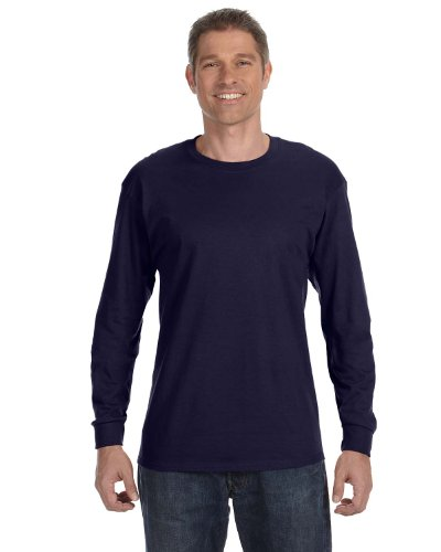 Jerzees Men's Long Sleeve Heavyweight Blend T-Shirt, J Navy, Large