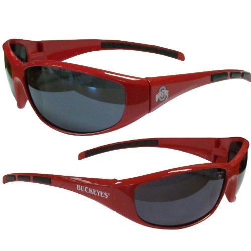 NCAA Collegiate Team Logo Sports Wrap Sunglasses - Choose Team! (Ohio State - College Sunglasses