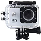 Generic SJ4000 Full 1.5 Inch HD 720P 9MP Mini Camera Waterproof Helmet Action Recording Extreme Sports Action Car DVR Recorder Kit Camcorder Free Accessories Kit (Silver)
