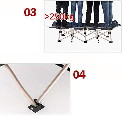 LJ Chaise longue de bureau, Chaise longue de bureau, Lit simple, Lit de camp pour adulte portabl