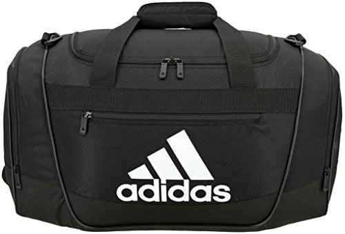 (adidas Women's Defender III small duffel Bag, Black/White, One Size)