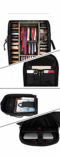 bigforest Business Laptop Rucksäcke Fall Reisetasche passt für bis zu 35,6cm Computer Aktentasche Handtasche schwarz schwarz Einheitsgröße grau