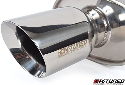 K Tuned Universal Muffler 2.5 Center Inlet//Center Outlet Polished//Long