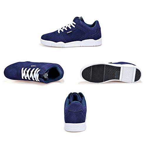 Hibote Chaussures de Sport Unisexes Classics Chaussures de Sport Chaussures à Lacets Baskets Plates Chaussures de Marche Décontractée Pour les Hommes Femmes Confortable et Respirant