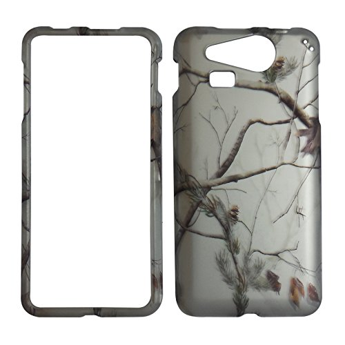 2D White Camo Pine For Kyocera Hydro Elite C6750 Case Cover Hard Phone Case Snap-on Cover Protector Rubberized Touch - Rubberized Case Cover Protector