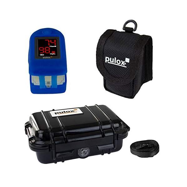 Pulox PO-100 - Oxímetro, pantalla LCD, incluye accesorios, color negro 6