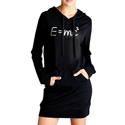 AaAarr Women's E=mc2 Long Sleeve Long Hooded Sweatshirt Pocket -