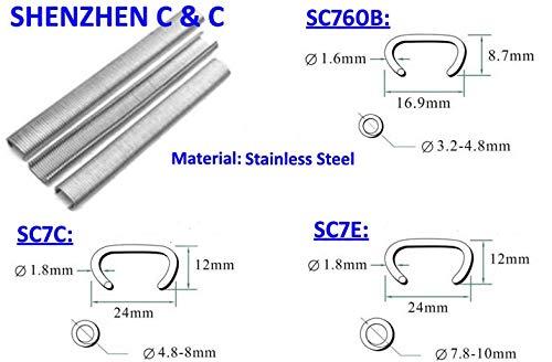 Ochoos Stainless Steel Pneumatic C ring nail Hog ring nail for SC7E SC7C SC760B Air gun
