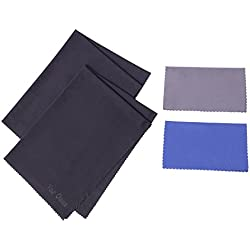 Microfiber Cleaning Cloths Cleaner For HDTV, Screen, Computers, Tablets, Laptops, Telescope, LCD TV Fire Screens, Car, Camera Lens, Eyeglasses,Cell Phones, Other Delicate Surfaces (2 Large & 2 Medium)
